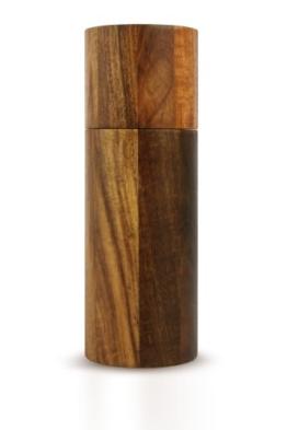 Ad Hoc MP75 Pfeffer- oder Salzmühle ACACIA gross, Akazienholz natur, Ceramic Mahlwerk, D: 6 cm, Höhe 17 cm -