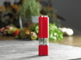 AdHoc Elektrische Pfeffer- oder Salzmühle Tropica rot -