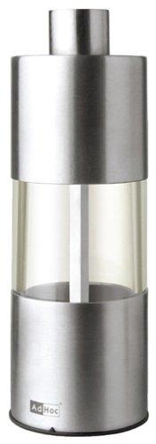 ADHOC MP01 Pfeffer- oder Salzmühle, Edelstahl, 13 cm -