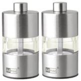 ADHOC MP31 Set Mini Pfeffer- und Salzmühle, Edelstahl, 6,2 cm -