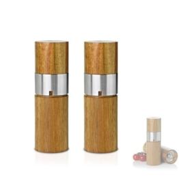 Adhoc MP45 Pfeffer und Salzmühle Ivan Acacia im Set mit Ceramic Mahlwerk -