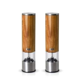 AdHoc Pfeffermühle + Salzmühle Set elektrisch WOODMATIC -