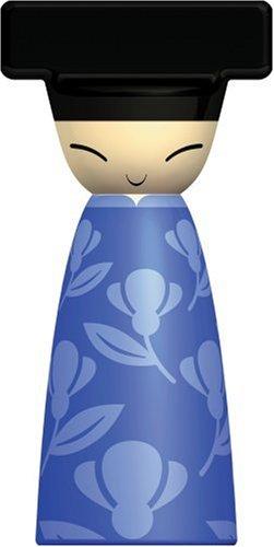 Alessi Queen Chin Salz-/ Pfeffer-/Gewürzmühle ASG80 AZ, blau -