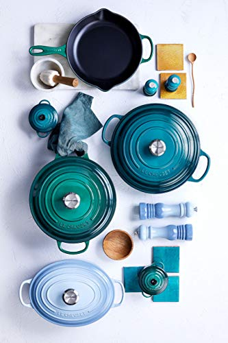 Le Creuset 96001900256000 Pfeffermühle, Kunststoff, 6,2 x 6,2 x 21 cm, meeresblau -