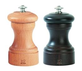 Peugeot 2/22594 Bistro Pfeffer-/Salzmühle Holz, 5 x 5 x 10 cm, natur -