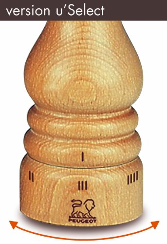 Peugeot 23317 Paris Pfeffermühle Holz, 5,9 x 5,9 x 22 cm, natur -