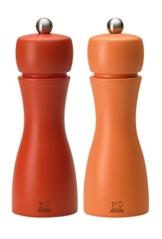 Peugeot 2/33286 Tahiti Herbst Pfeffer- und Salzmühle, Holz, orange/pfirsich, 5,5 x 5,5 x 15 cm -