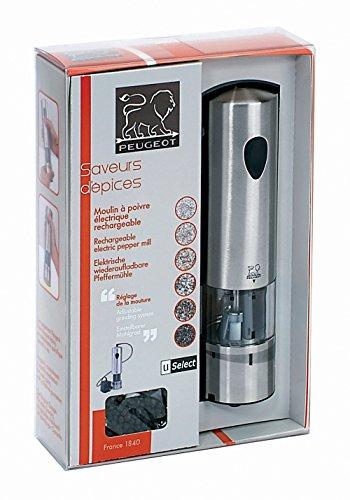 Peugeot ELIS U Select Pfeffermühle elektrisch Edelstahl, 5,4x 5,4x 20cm -
