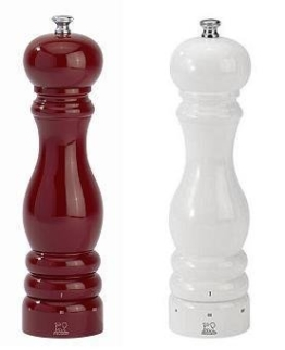 Peugeot Set Paris Pfeffermühle + Salzmühle u´select rot/weiß 22 cm -