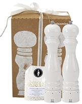 Peugeot Set Paris Pfeffermühle und Salzmühle | weiß 30 cm u-select | Dekomiro Geschenkset mit 100 gr. Salz -