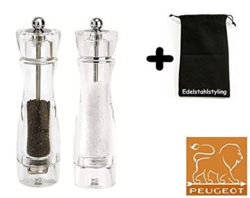 Peugeot Set Pfeffermühle + Salzmühle Vittel 23 cm + Stoffbeutel -
