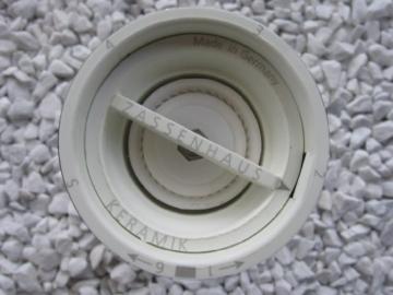 Pfeffermühle Zassenhaus PM Hamburg weiß mit Keramik Mahlwerk -