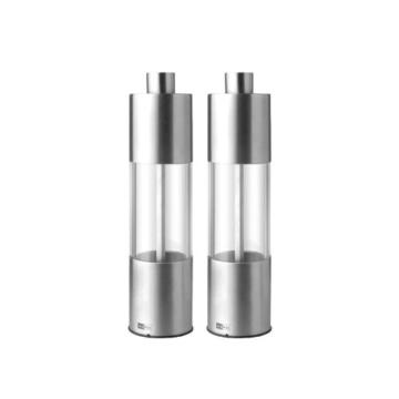 Pfeffermühlen Salzmühlen Set - 18 cm - Edelstahl - AdHoc Design -