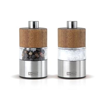 Set Pfeffer- Und Salzmühle David, Ceramic Mahlwerk Ceracut®, Edelstahl/Akazienholz/Acryl, D: 3,2 Cm, H: 6,2 Cm -