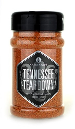 Tennessee Teardown, BBQ Rub im Streuer, 200gr -