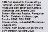 Texas Chicken, BBQ-Rub für Wings und Hähnchen, 250gr -