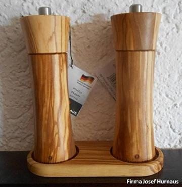 Zassenhaus Pfeffermühle und Salzmühle Set Frankfurt olive 18 cm mit Menage neu -