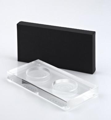 Zassenhaus Set Hamburg Salzmühle weiß + Pfeffermühle schwarz + Design Menage aus Acrylglas -
