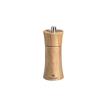 Zassenhaus Set Salzmühle & Pfeffermühle Frankfurt Bambus 14 cm & Untersetzer Olivenholz -