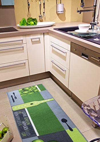 Andiamo 282566 Teppich / Küchenläufer Apple Juice, 67 x 200 cm, apfel grün -