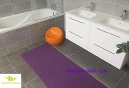 Antirutschmatte Badematte Küchenmatte Küchenteppich / Abmessungen und Farbwahl / Multi-Use-Teppich / MadeInNature (65x180cm, Lila) -