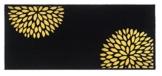 Flurläufer - Küchenläufer - flowers black - schwarz - Universal Läufer - Küchenmatte - Läufer - Dekoläufer für Küche , Flur , Wohnzimmer und Bar - Der Hingucker in Ihrer Wohnung - Ihre Gäste werden staunen - waschbare Läufer - Küchendeko Modell - 67 x 150 cm -