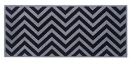 Flurläufer - Küchenläufer - zick zack - grau - schwarz - Universal Läufer - Küchenmatte - Läufer - Dekoläufer für Küche , Flur , Wohnzimmer und Bar - Der Hingucker in Ihrer Wohnung - Ihre Gäste werden staunen - waschbare Läufer - Küchendeko Modell - 67 x 150 cm -