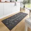 Hanse Home 102369 Design Velours Küchenläufer Sterneküche, Grau, 67x180 cm -
