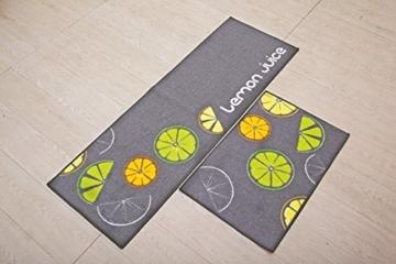 Indeedshare Kitchen Rugs Mats Küche Teppiche Gummirückseite Dekorative rutschfeste Fußmatte Läufer Bereich Schmutzfangmatten Sets 2 Stück(40cm*60cm+40cm*120cm) -
