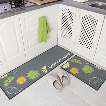 Indeedshare Kitchen Rugs Mats Küche Teppiche Gummirückseite Dekorative  rutschfeste Fußmatte Läufer Bereich Schmutzfangmatten Sets 2 ...