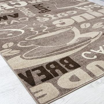 kaffee design teppich k chenl ufer trendig verschiedene schriftarten und muster in beige ideal. Black Bedroom Furniture Sets. Home Design Ideas