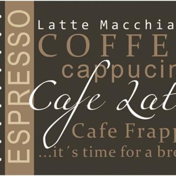 Küchenläufer 120x50 cm Kaffee Braun Coffee Küchenmatte Küchenteppich -