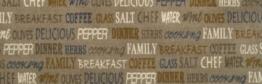 """Küchenläufer Küchenmatte Dekoläufer für Küche Esszimmer und Bar waschbare Küchenläufer Küchendeko Modell ,,COOK & WASH delicious """" Kaffee Coffee Breakfast Größe ca. 50 x 150 cm -"""