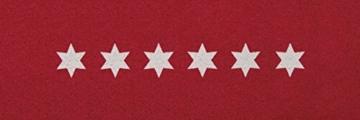 Küchenläufer / Küchenmatte / Dekoläufer für Küche und Bar / Teppich Läüfer / Küchenläufer / Küchendeko Modell Sterne - Stars - rot -