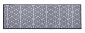 """Küchenläufer / Küchenmatte / Dekoläufer für Küche und Bar / Teppich / Läüfer / Läufer / waschbare Küchenläufer / Küchendeko Modell ,,COOK & WASH grau - mit Muster - """" Größe ca. 50 x 150 cm / Maschinen waschbar auf 30 grad -"""