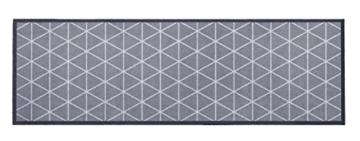 """Küchenläufer / Küchenmatte / Dekoläufer für Küche und Bar / Teppich / Läüfer / Läufer / waschbare Küchenläufer / Küchendeko Modell ,,COOK & WASH grau – mit Muster – """" Größe ca. 50 x 150 cm / Maschinen waschbar auf 30 grad -"""
