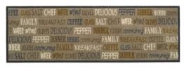 """Küchenläufer / Küchenmatte / Dekoläufer für Küche und Bar / waschbare Küchenläufer / Küchendeko Modell ,,COOK & WASH delicious """" Größe ca. 50 x 150 cm / Maschinen waschbar auf 30 grad -"""