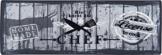 Küchenläufer / Küchenmatte / Küchen Läufer / Dekoläufer für Küche und Bar / Der Hingucker in Ihrer Küche / Ihre Gäste werden staunen / waschbare Küchenläufer / Küchendeko Modell - Hier kocht der Chef - grau - Größe ca. 50 x 150 cm -