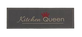 Küchenläufer / Küchenmatte / Läufer / Dekoläufer für Küche und Bar - Kitchen Queen - grau - Der Hingucker in Ihrer Küche / Ihre Gäste werden staunen / waschbare Küchenläufer / Küchendeko Modell ,,COOK & WASH -