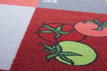 Küchenläufer rutschfest, waschbar, Läufer, Oeko-Tex 100, Küchenteppich, div Motive in 3 Größen (Tomate, 57x180cm) -