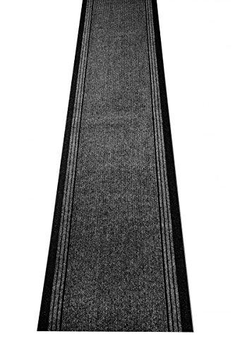 Küchenteppich / Küchenmatte / Teppichläufer Kongo anthrazit, Größe Auswählen:80 x 500 cm -