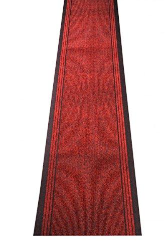 Küchenteppich / Küchenmatte / Teppichläufer Kongo rot, Größe Auswählen:80 x 250 cm -