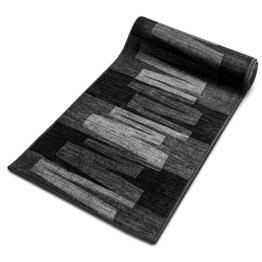 Läufer Teppich Brücke Teppichläufer Veneto 80 cm breit anthrazit grau Marke: Ta-Bo Lifestyle, 80x150 cm inkl. edlen Ta-Bo-Lifestyle Schlüsselanhänger -