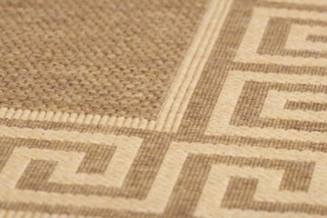 Lalee  347080328  Teppich / Sisal Optik / Flach / Küche / Muster : Bordüre / Braun / Grösse : 80 x 150 cm -