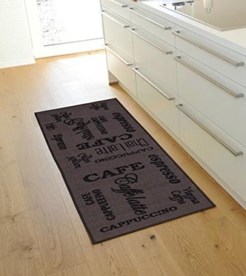 misento 282475 Küchenläufer waschbar Küchenteppich Espresso Läufer, Polyamid, braun, 57.0 x 120.0 x 0.5 cm -