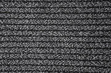 Schmutzfang Läufer Ghana Anthrazit nach Maß - versandkostenfrei schadstoffgeprüft pflegeleicht antistatisch schmutzresistent robust strapazierfähig Flur Diele Eingang Küche Küchenteppich Küchenmatte , Größe Auswählen:90 x 300 cm -