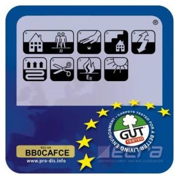 Teppich / Läufer in zahlreichen Größen | anthrazit, gepunktet | Qualitätsprodukt aus Deutschland | GUT Siegel | Küchenläufer, Flurläufer (66x100 cm) -