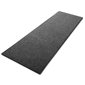 Teppich / Läufer in zahlreichen Größen   anthrazit, gepunktet   Qualitätsprodukt aus Deutschland   GUT Siegel   Küchenläufer, Flurläufer (80x175 cm) -