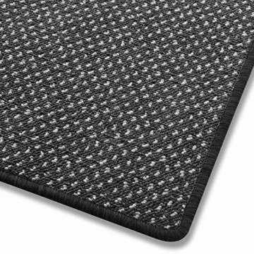 Teppich / Läufer in zahlreichen Größen | anthrazit, gepunktet | Qualitätsprodukt aus Deutschland | GUT Siegel | Küchenläufer, Flurläufer (80x175 cm) -