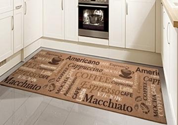 teppich modern flachgewebe gel l ufer k chenteppich k chenl ufer braun beige schwarz mit. Black Bedroom Furniture Sets. Home Design Ideas